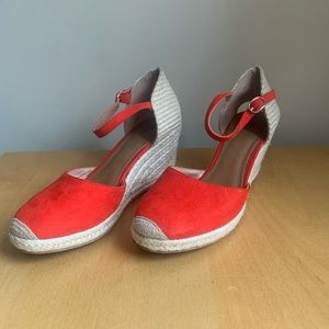 Red Espadrilles Size 37